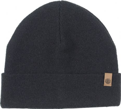 ELEMENT MENS HAT.CARRIER II WARM BLACK KNITTED TURN UP BEANIE CAP 8W BNA3 2204